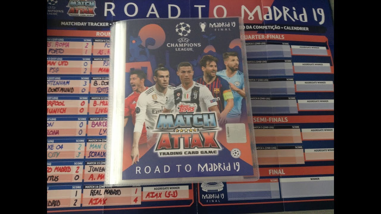 Champions League 2019 Calendrier.Match Attax Champions League Road To Madrid 19 Full Binder