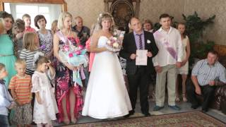 Свадьба ЗАГС пос. Березовка у Красноярска 10 июля 2015 г. ( видеограф Александр т. 8-923-285-00-69 )