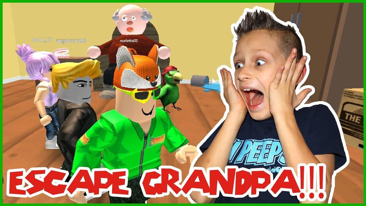 Roblox Obby Ronaldomg Escape Grandpa Santa Obby Youtube