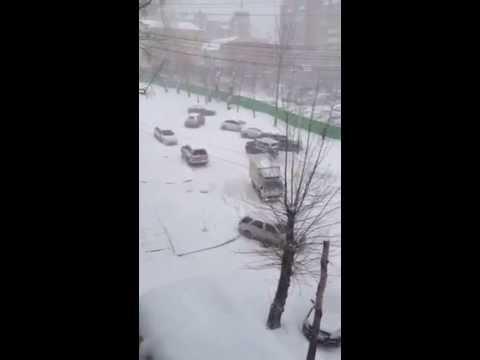 Khabarovsk, Russia. Komsomolsk Street on the 7th of November 2013.