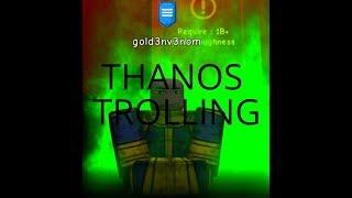 TROLLING AS THANOS EN ROBLOX!!!