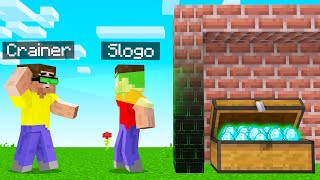 I TROLLED SLOGO With X-RAY GOGGLES In MINECRAFT!