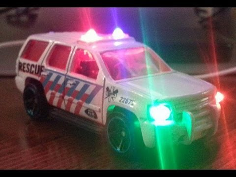 Multiple Sequence LED's in a 1/64 Hot Wheels Emergency truck (a Tutorial)