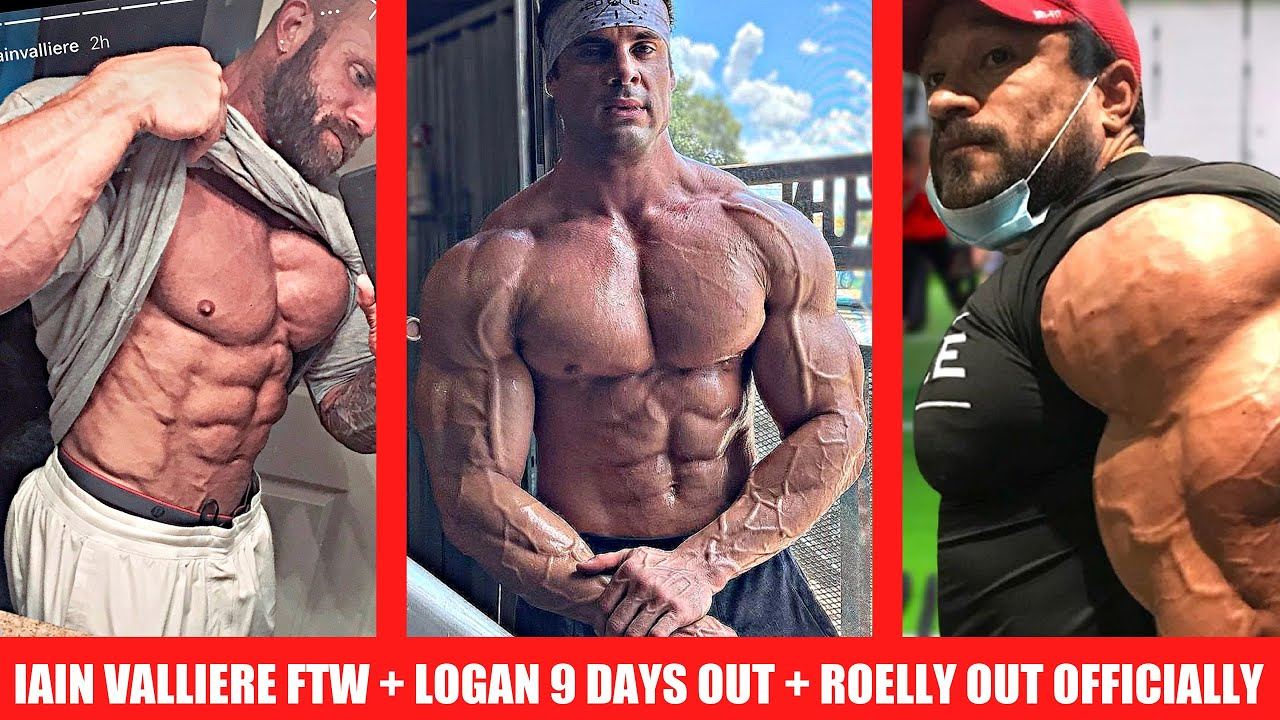 Roelly OFFICIALLY Out of Tampa + Iain Valliere Shredded + Logan Franklin 9 Days Out +Big Ramy Update