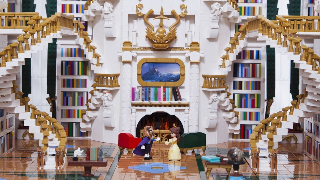 Amazing LEGO Beauty and the Beast Library – 25,000 Pieces!