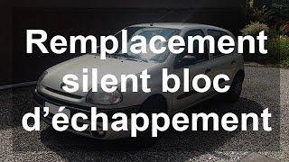 Remplacer un silent bloc d'échappement (silencieux) - Renault Clio 2