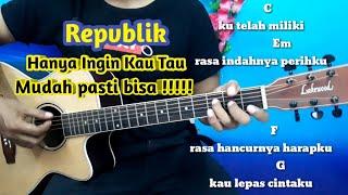Download lagu Tutorial Gitar Repvblik Hanya Ingin Kau Tau Lirik Dan Kunci Gitar Full MP3