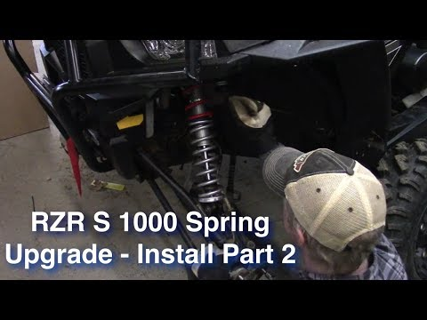RZR S 1000 Spring Upgrade - Install - Part 2 - YouTube