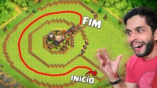 LAYOUT TROLL DO CORREDOR INSANO! Clash of Clans