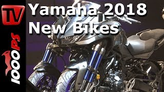 Yamaha Motorcycles 2018 - MT-09 SP, MT-07, Tracer 900, NIKEN - with Valentino Rossi