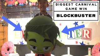 The Biggest CARNIVAL GAME WIN on BLOCKBUSTER