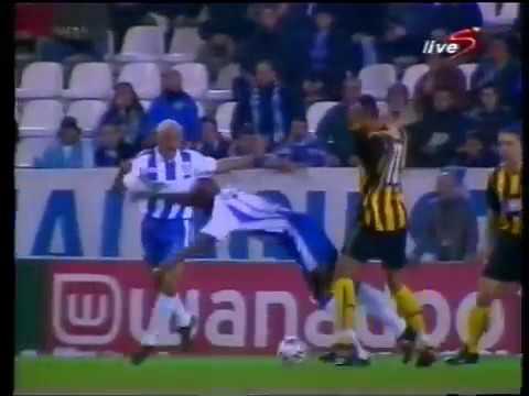 Malaga cf vs Aek Atenas 2002/03 partido de ida, la rosaleda.