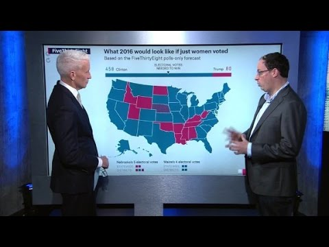 Electoral map: What if only women voted?