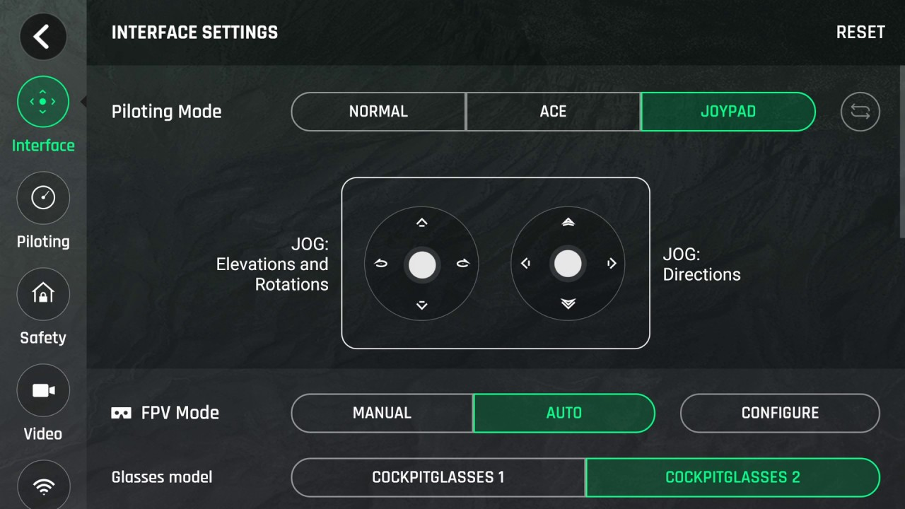 Parrot Bebop 2 Power -- Settings Overview