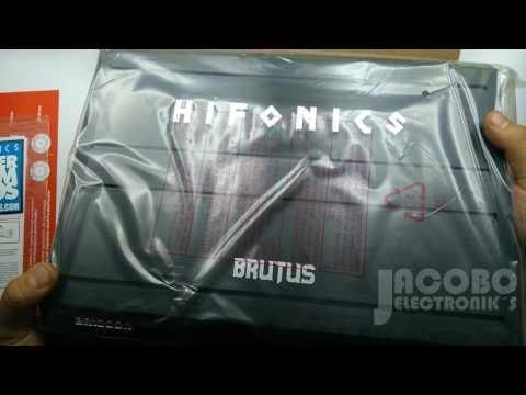 Contenido Del Amplificador Hifonics Brutus Br1000 1 Unboxing