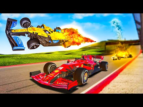 CRASHING Formula 1 Cars to Win the Race in F1 2020! |