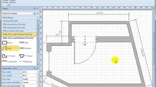 8.3 Walls, Windows, and Doors in a Visio 2010 Office Plan