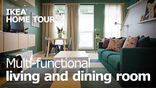Living Room Ideas for a Small Space (Teaser) - IKEA Home Tour (Episode 407)