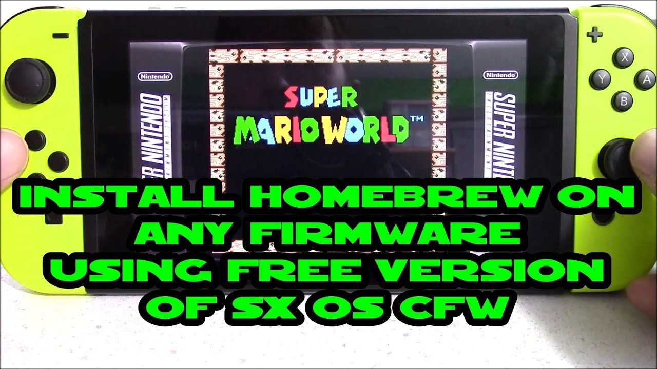 Install HomeBrew Menu on Switch with FREE version SX OS on