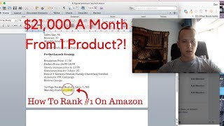 $21,000 PROFIT Per Month From 1 Product!? How I RANK New Products #1 On Amazon FAST