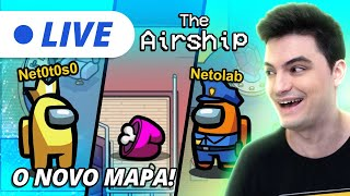 LIVE - MAPA NOVO DO AMONG US, AGORA VAI! [+10]