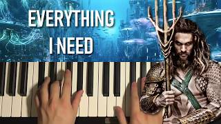 Skylar Grey - Everything I Need (Piano Tutorial Lesson)