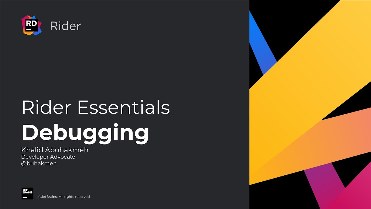 Debugging code - Rider Essentials
