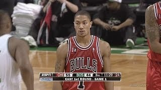 Derrick Rose Full Highlights 2009 Playoffs R1G1 at Celtics - 36 Pts, 11 Assists