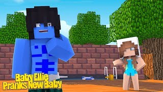 BABY ELLIE PRANKS THE NEW BABY IN THE CASTLE! | Minecraft Little Kelly