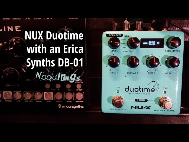 NUX Duotime dual delay with the DB-01 synth (no talking)