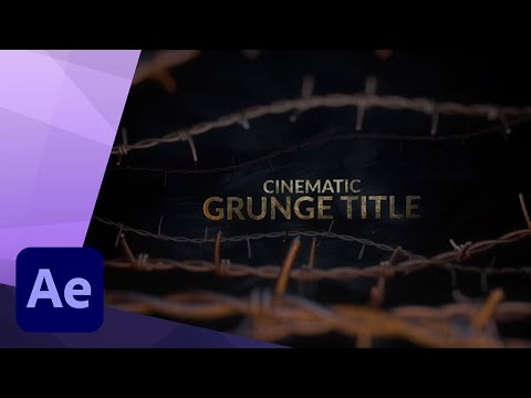 3D CINEMATIC GRUNGE TITLE in CINEMA 4D and AFTER EFFECTS TUTORIAL