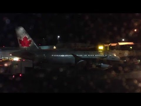 Air canada emergency take off montreal international airport