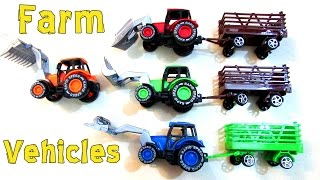 Street Vehicles For Kids | Farm Tractors | Learn Vehicles Name | Educational Learning Video