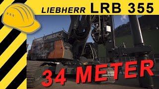 Liebherr LRB 355 Rammgerät und Bohrgerät für den Spezialtiefbau - Technikertag 2015 - Bauforum24 TV