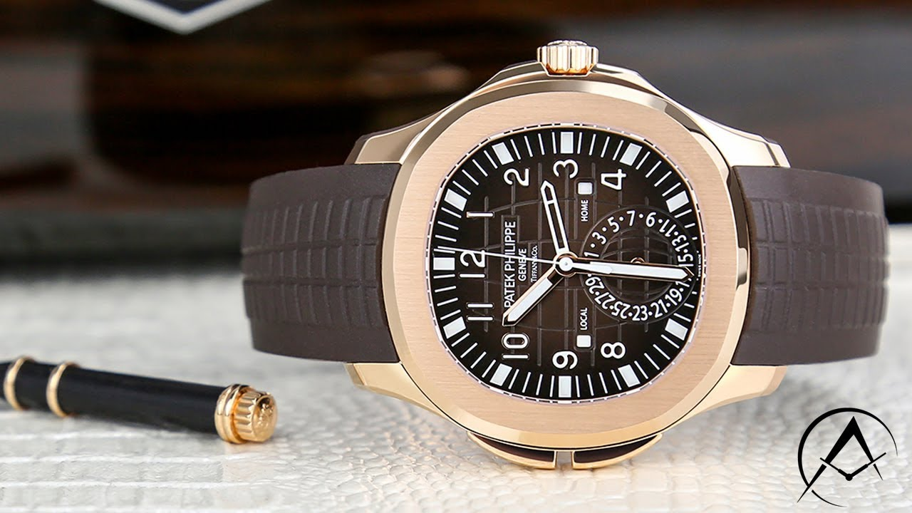 Patek Philippe Aquanaut Travel Time Rose Gold Tiffany And Co Dial Watch 5164r 001