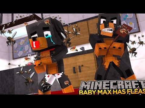 Minecraft - Donut the Dog Adventures -BABY MAX HAS FLEAS!!!!