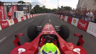 F1 2013 - Ferrari - On board camera with Felipe Massa at Warsaw Street Demonstration