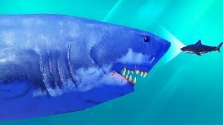 АКУЛА ПЕРЕРОСЛА ОКЕАН! Я МЕГАЛОДОН! МЕНЯ НЕ ОСТАНОВИТЬ! РЫБИЙ ЧЕЛЛЕНДЖ! FEED AND GROW FISH