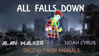 Download Lagu Just Dance Fanmade Mashup - All Falls Down by Alan Walker ft. Noah Cyrus with Digital Farm Animals Mp3