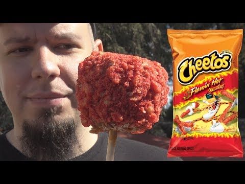 Flamin' Hot Cheetos Caramel Apple Review - LA County Fair 2017