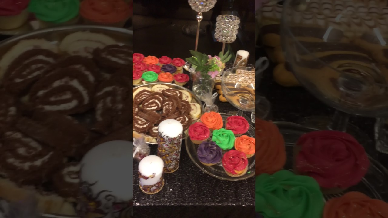 Mehndi Party Snacks : Mehndi party dessert table youtube