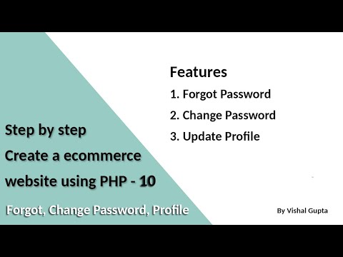 Step by step create an eCommerce website using PHP - Part 10 (Forgot, Change Password, Profile) from YouTube · Duration:  51 minutes 20 seconds