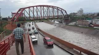 CRECIENTE DE AGUA EN CANAL DEL RIO CHUVISCAR EN CHIHUAHUA