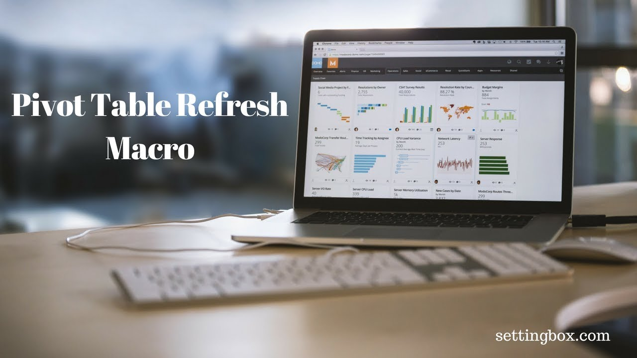 How to Refresh Pivot table automatically with a Macro
