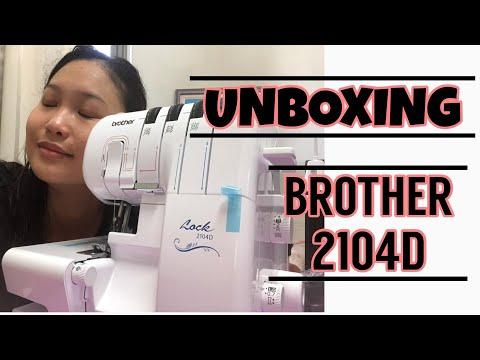Brother 2104D Overlock Machine unboxing