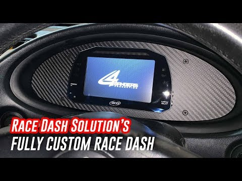 Custom Carbon Fiber Dash Mount By Race Dash Solution - Install