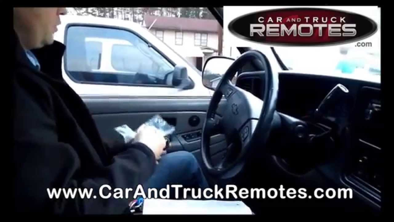 isuzu ascender replacement remote programming 2003 2008