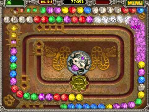 Zuma Deluxe - Level 12-5 - Mirror Serpent