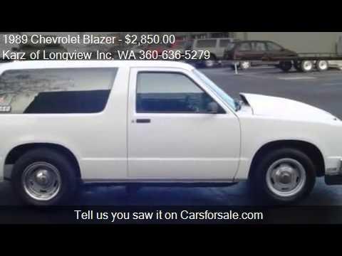 1989 Chevrolet Blazer S10, 2WD, 2-DOOR - for sale in Longvie