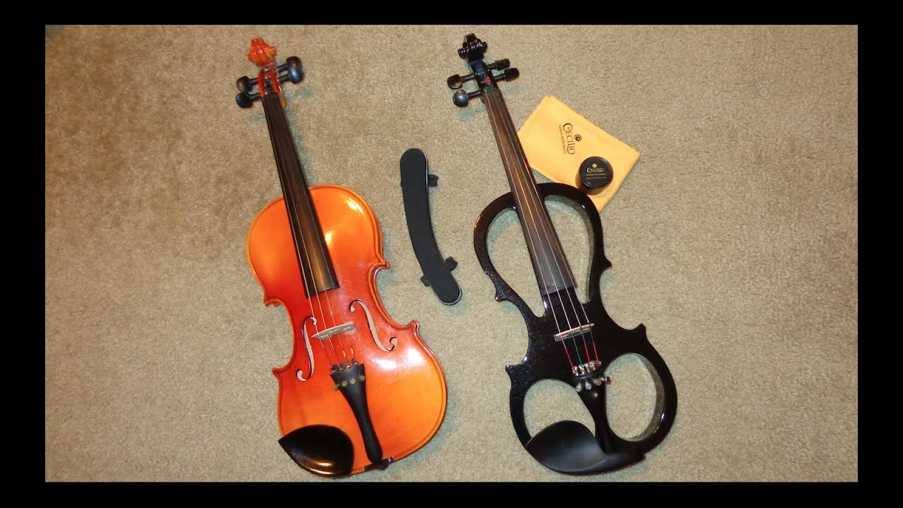 My Karl Knilling Violin and Cecilio Electric Violin
